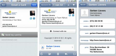 9 redenen voor een online businesscard voorbeeld iphone