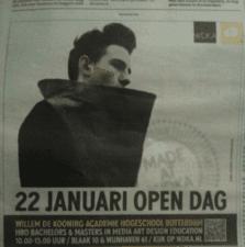 Advertentie wdka open dag