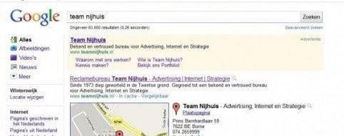 Branding zoekmachine resultaten Google