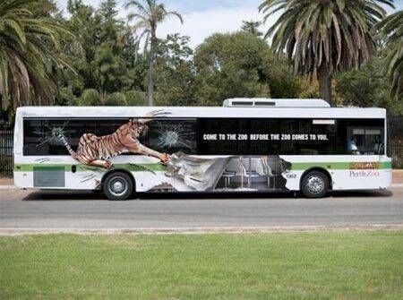 Sticker bus dierentuin