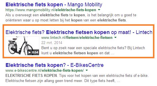 5 tips schrijven seo teksten zoekopdracht elektrische fiets kopen google