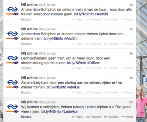 NS tweets sinterklaas