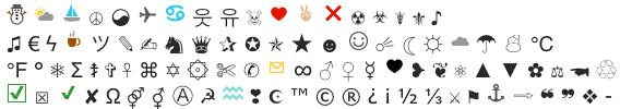 verstuur-symbolen