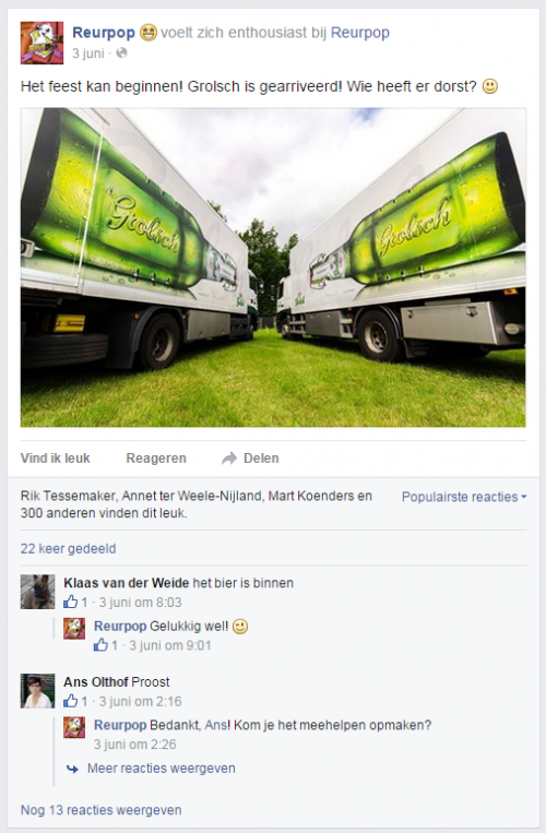 Foto Grolsch vrachtwagen