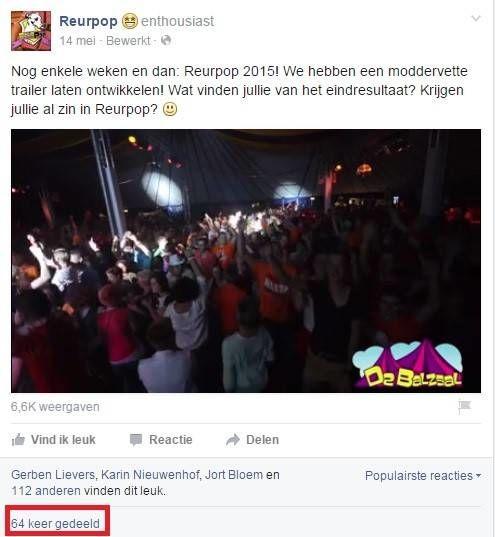Facebookbericht intern delen