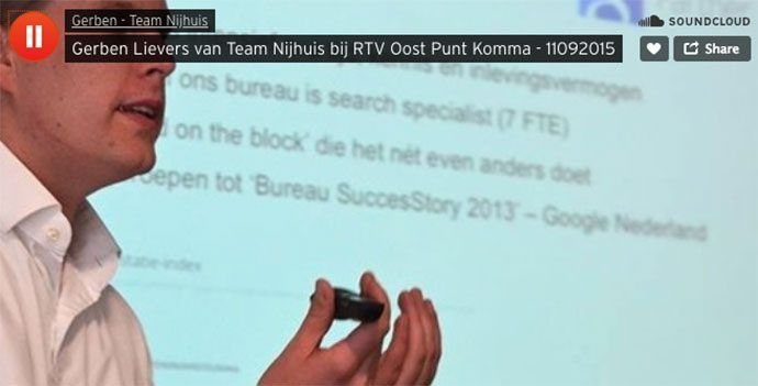 Gerben Lievers in de uitzending van Punt Komma van RTV Oost