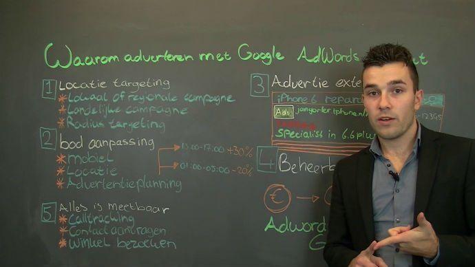 Waarom adverteren met google adwords video