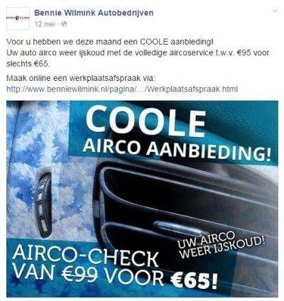 Aanbieding auto bedrijf voorbeeld