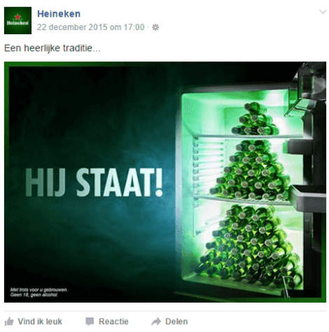 Facebook advertentie branding