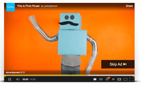 Voorbeeld youtube advertentie