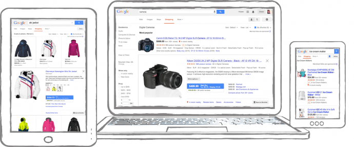 Visualisatie google shopping