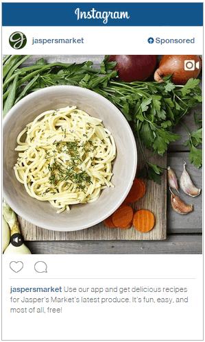 Instagram eten posten