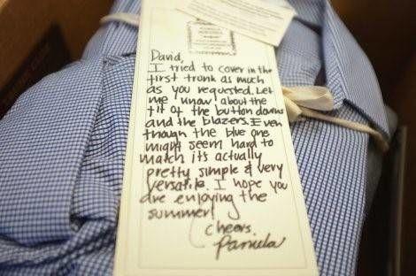 persoonlijke thank you note