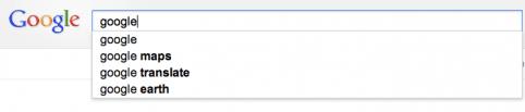 Automatisch aanvullen Google