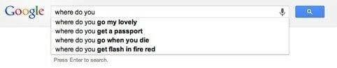Predictive search copy