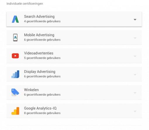5 tips google adwords beoordelen google certificeringen Team Nijhuis als google premiere partner