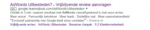 Expanded text ad voorbeeld