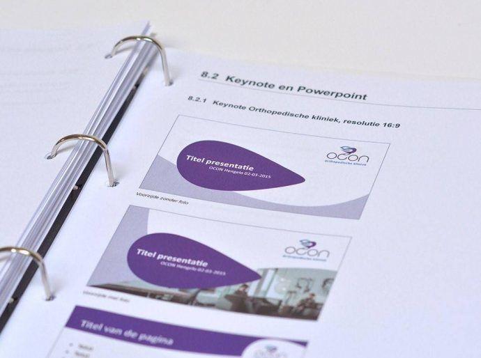 huisstijlhandboek 8 elementen tips en voorbeelden huisstijlhandboek voorbeeld richtlijnen keynote stramien ocon
