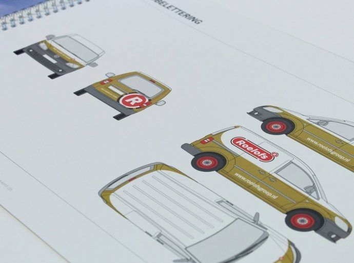 huisstijlhandboek 8 elementen tips en voorbeelden huisstijlhandboek voorbeeld richtlijnen voertuigbelettering roelofs
