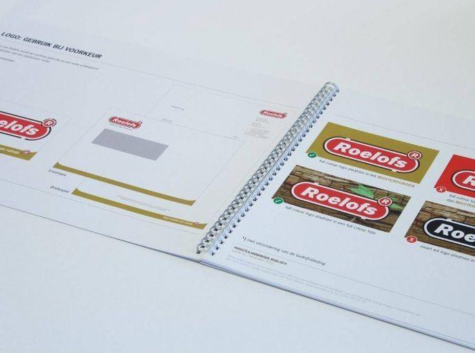 huisstijlhandboek 8 elementen tips en voorbeelden voorbeeld richtlijnen logogebruik roelofs