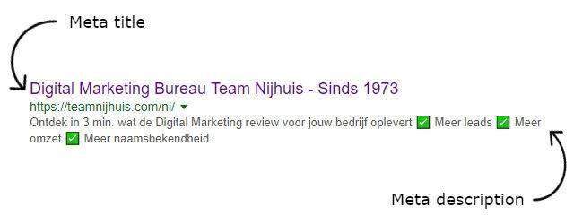 meta descriptions dragen meer bij dan je denkt meta descriptions meta titles team nijhuis in zoekmachine