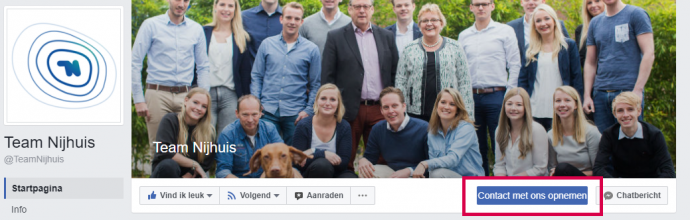 Facebook- CTA Team Nijhuis