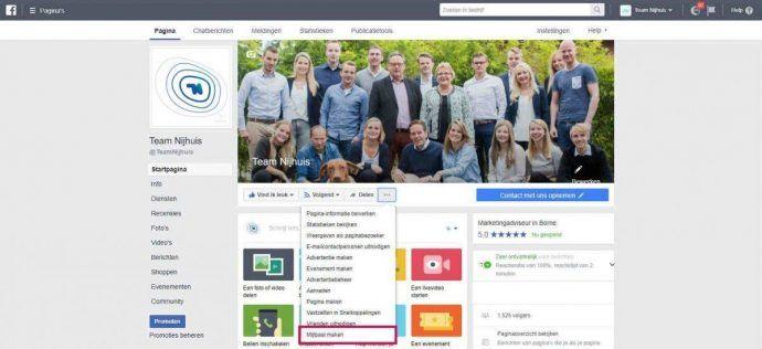 Facebook Mijlpalen instellen