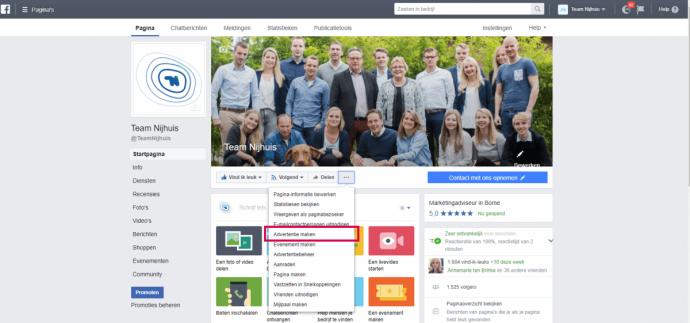 Facebook- advertentie maken Team Nijhuis