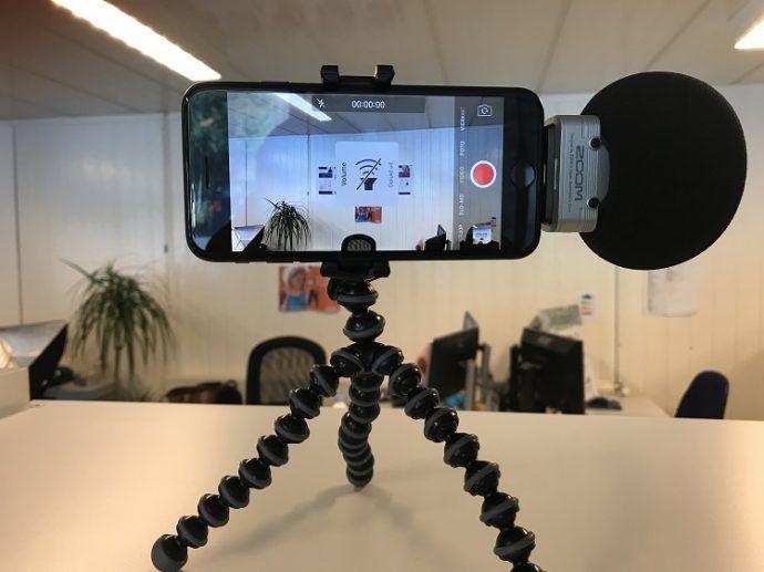 Gebruik een video statief om videos te maken