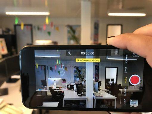 Vergrendel de focus op je telefoon als je een video maakt