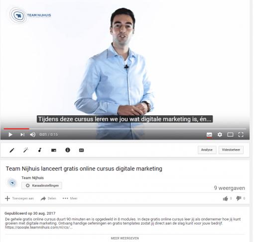 Optimaliseer de beschrijving van je video's
