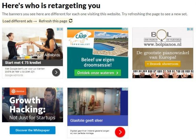 Remarketing banners