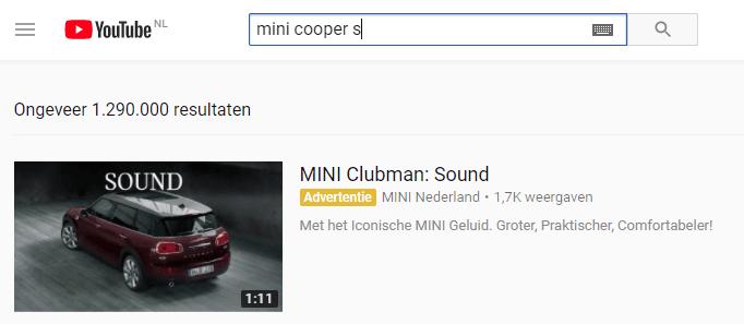 zoekwoorden YouTube