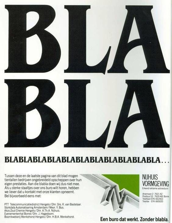Blabla advertentie