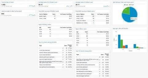 Gender insights dashboard google analytics