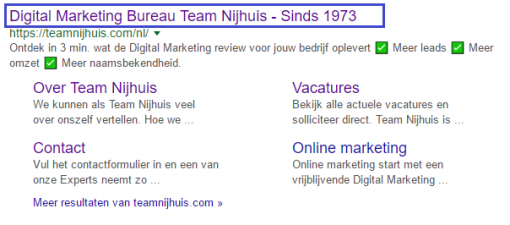 Title tag in organische lokale SEO