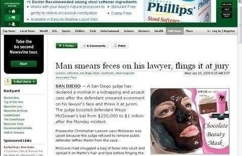 Adverteer met chocolade masker bij poep incident