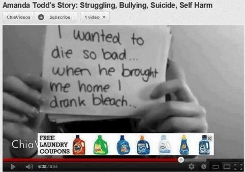 Bleek reclame zelfmoord door bleek