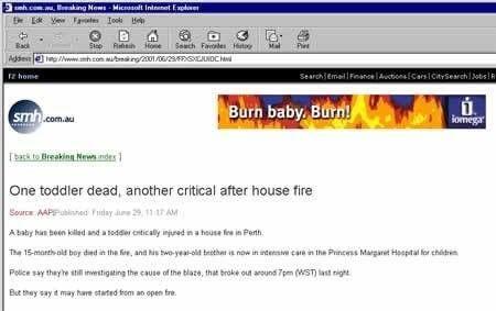 Burn baby peuter gedood door brand
