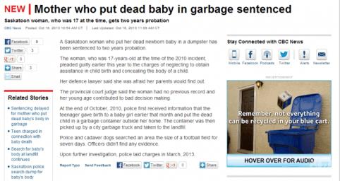 Moeder gooit baby weg advertentie vertelt je kan niet alles weggooien