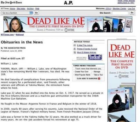 Nieuws mortuarium dead like me advertentie nieuw seizoen