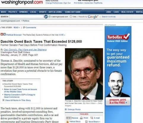 Senator ontduikt belasting turbotax makkelijk minder betalen