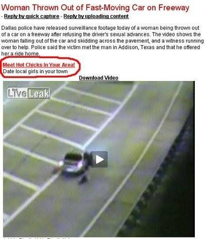 Vrouw gegooid uit snel rijdende auto ontmoet hete vrouwen