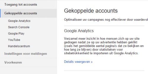 Blog analytics koppelen google analytics aan google adwords