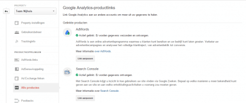 Koppelen Google Analytics met Google Adwords