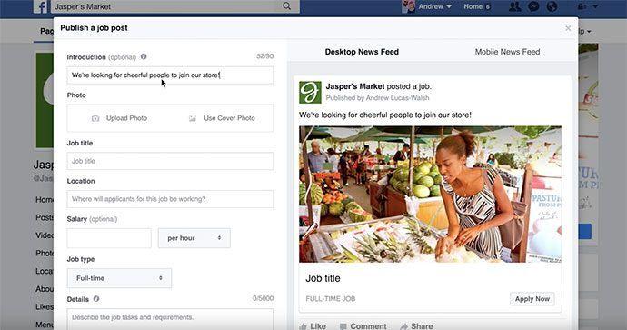 Werf nieuwe medewerkers via facebook jobs en vacatures