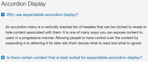 Accordion Display