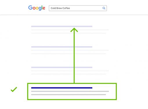 Google positie omhoog