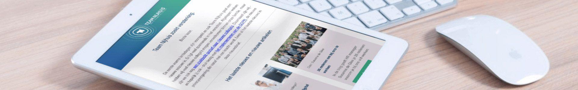 Aanmelden nieuwsbrief Team Nijhuis digital marketing experts