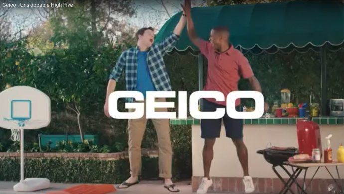 YouTube video Geico